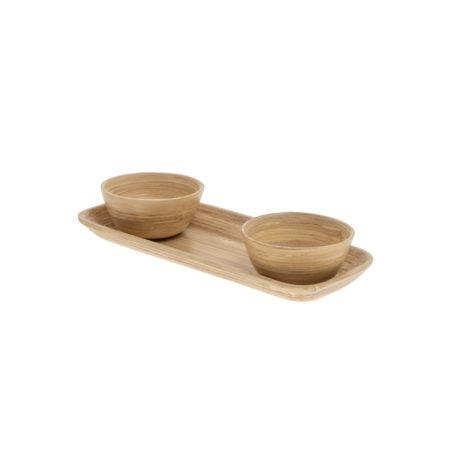Bamboo Plate double natural