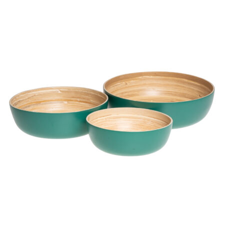 PETROL GREEN BAMBOO SET (3)